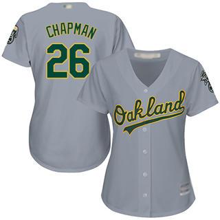 Women's Athletics #26 Matt Chapman Grey Road Stitched Baseball Jersey