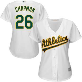 Women's Athletics #26 Matt Chapman White Home Stitched Baseball Jersey