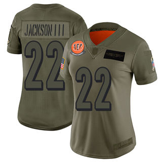 Women's Bengals #22 William Jackson III Camo Stitched Football Limited 2019 Salute to Service Jersey