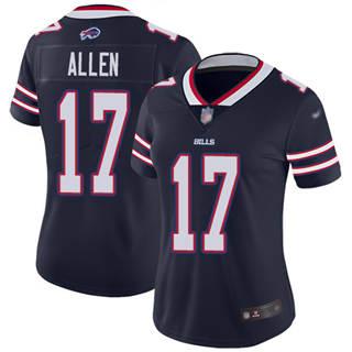 Women's Bills #17 Josh Allen Navy Stitched Football Limited Inverted Legend Jersey
