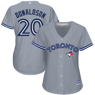 Women's Blue Jays #20 Josh Donaldson Grey Road Stitched Baseball Jersey