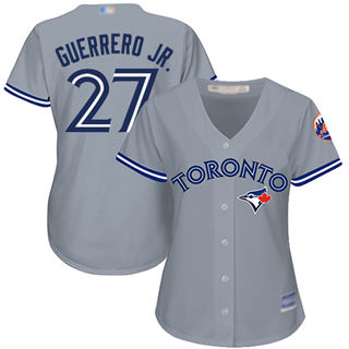 Women's Blue Jays #27 Vladimir Guerrero Jr. Grey Road Stitched Baseball Jersey