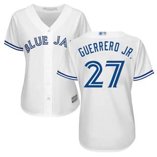 Women's Blue Jays #27 Vladimir Guerrero Jr. White Home Stitched Baseball Jersey
