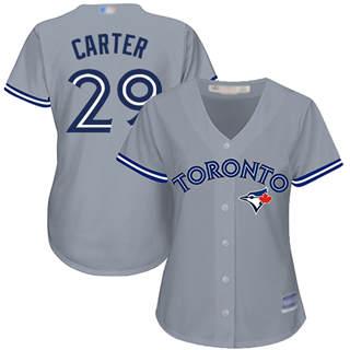Women's Blue Jays #29 Joe Carter Grey Road Stitched Baseball Jersey