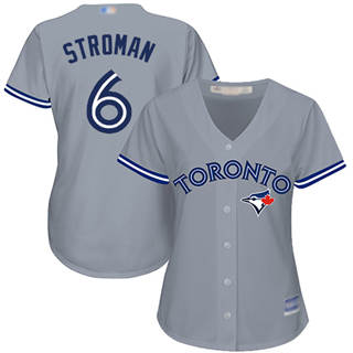Women's Blue Jays #6 Marcus Stroman Grey Road Stitched Baseball Jersey