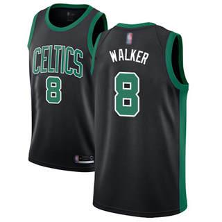 Women's Celtics #8 Kemba Walker Black Basketball Swingman Statement Edition Jersey