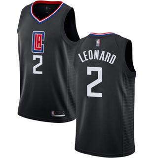 Women's Clippers #2 Kawhi Leonard Black Basketball Swingman Statement Edition Jersey