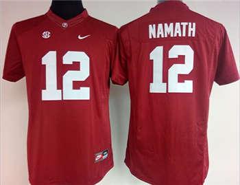 Women's Crimson Tide #12 Joe Namath Red Stitched NCAA Jersey