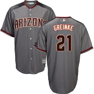 Women's Diamondbacks #21 Zack Greinke Gray Road Stitched Baseball Jersey