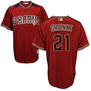 Women's Diamondbacks #21 Zack Greinke Sedona Red Alternate Stitched Baseball Jersey