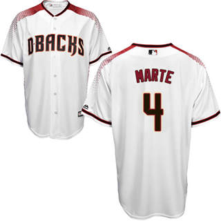 Women's Diamondbacks #4 Ketel Marte White Crimson Home Stitched Baseball Jersey