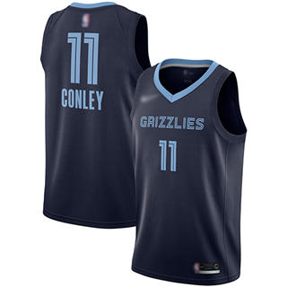 Women's Grizzlies #11 Mike Conley Navy Blue Basketball Swingman Icon Edition Jersey