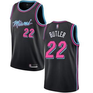 Women's Heat #22 Jimmy Butler Black Basketball Swingman City Edition 2018-19 Jersey