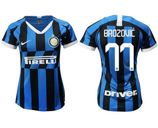 Women's Inter Milan #77 Brozovic Home Soccer Club Jersey