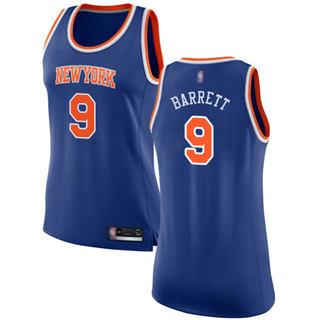 Women's Knicks #9 R.J. Barrett Blue Basketball Swingman Icon Edition Jersey