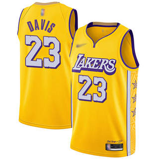 Women's Lakers #23 Anthony Davis Gold Basketball Swingman City Edition 2019-2020 Jersey