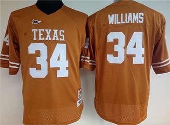 Women's Longhorns #34 Ricky Williams Orange Stitched NCAA Jersey