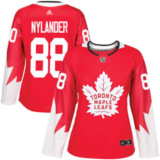 Women's Maple Leafs #88 William Nylander Red Team Canada Authentic Stitched Hockey Jersey