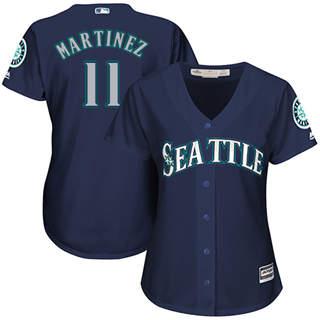 Women's Mariners #11 Edgar Martinez Navy Blue Alternate Stitched Baseball Jersey