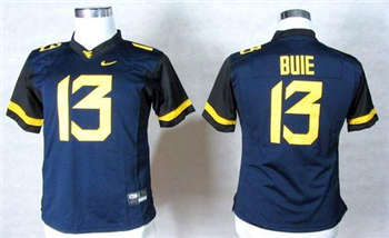 Women's Mountaineers #13 Andrew Buie Navy Blue Stitched NCAA Jersey