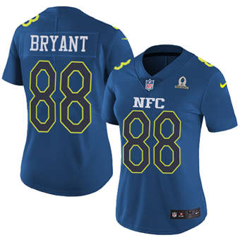 Women's  Cowboys #88 Dez Bryant Navy Stitched Football Limited NFC 2017 Pro Bowl Jersey