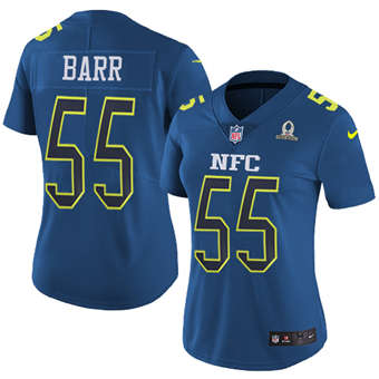 Women's  Vikings #55 Anthony Barr Navy Stitched Football Limited NFC 2017 Pro Bowl Jersey