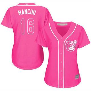 Women's Orioles #16 Trey Mancini Pink Fashion Stitched Baseball Jersey