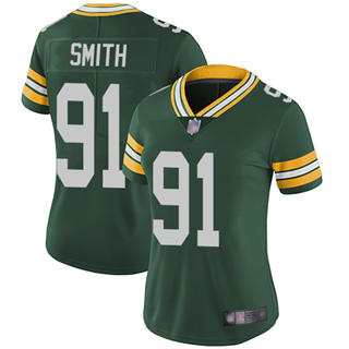 Women's Packers #91 Preston Smith Green Team Color Stitched Football Vapor Untouchable Limited Jersey