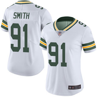 Women's Packers #91 Preston Smith White Stitched Football Vapor Untouchable Limited Jersey