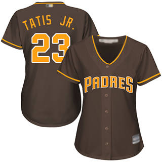 Women's Padres #23 Fernando Tatis Jr. Brown Alternate Stitched Baseball Jersey