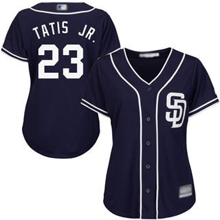 Women's Padres #23 Fernando Tatis Jr. Navy Blue Alternate Stitched Baseball Jersey
