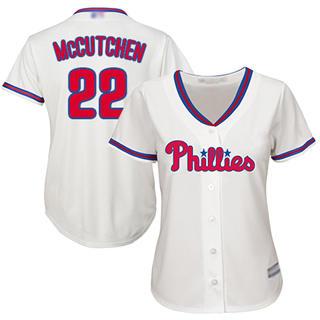 Women's Phillies #22 Andrew McCutchen Cream Alternate Stitched Baseball Jersey