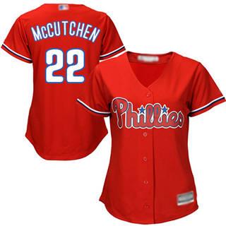 Women's Phillies #22 Andrew McCutchen Red Alternate Stitched Baseball Jersey