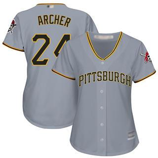 Women's Pirates #24 Chris Archer Grey Road Stitched Baseball Jersey