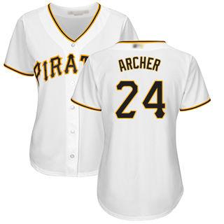 Women's Pirates #24 Chris Archer White Home Stitched Baseball Jersey