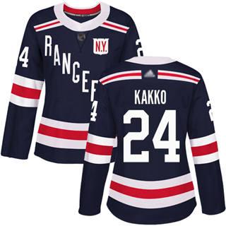 Women's Rangers #24 Kaapo Kakko Navy Blue Authentic 2018 Winter Classic Stitched Hockey Jersey