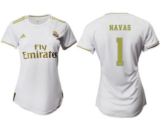 Women's Real Madrid #1 Navas Home Soccer Club Jersey