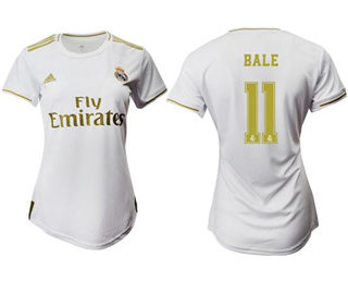 Women's Real Madrid #11 Bale Home Soccer Club Jersey