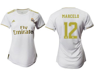 Women's Real Madrid #12 Marcelo Home Soccer Club Jersey