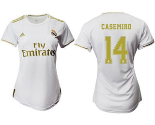 Women's Real Madrid #14 Casemiro Home Soccer Club Jersey