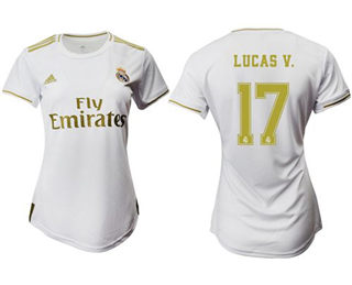 Women's Real Madrid #17 Lucas V. Home Soccer Club Jersey