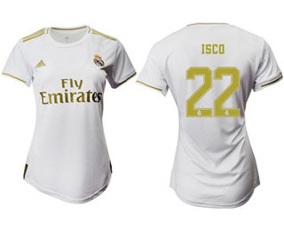 Women's Real Madrid #22 Isco Home Soccer Club Jersey