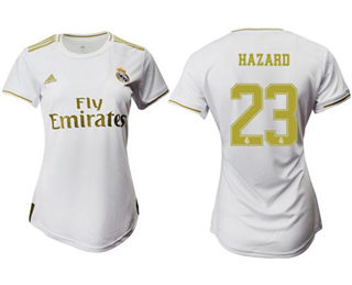 Women's Real Madrid #23 Hazard Home Soccer Club Jersey
