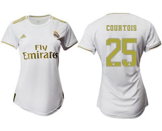 Women's Real Madrid #25 Courtois Home Soccer Club Jersey