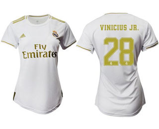 Women's Real Madrid #28 Vinicius Jr. Home Soccer Club Jersey