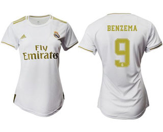 Women's Real Madrid #9 Benzema Home Soccer Club Jersey