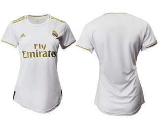 Women's Real Madrid Blank Home Soccer Club Jersey