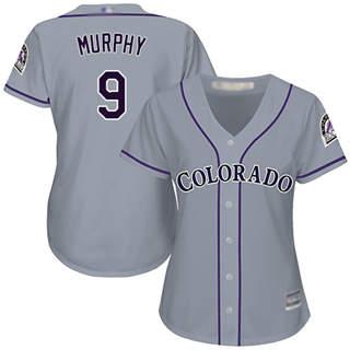 Women's Rockies #9 Daniel Murphy Grey Road Stitched Baseball Jersey
