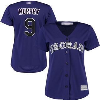 Women's Rockies #9 Daniel Murphy Purple Alternate Stitched Baseball Jersey