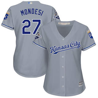 Women's Royals #27 Raul Mondesi Grey Road Stitched Baseball Jersey